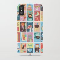 alphabet iPhone & iPod Cases featuring Alphabet by Emily Golden