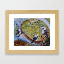 Kookaburra Family Framed Art Print