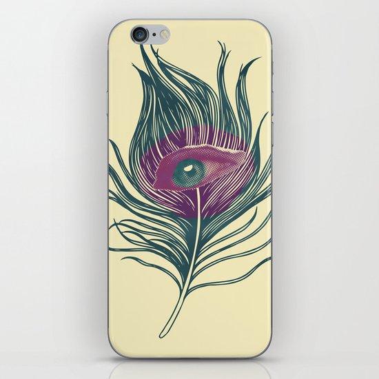 Feather in my eye iPhone & iPod Skin