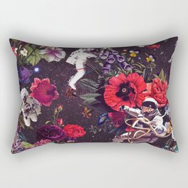Flowers and Astronauts Rectangular Pillow
