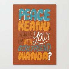 Peace Keanu Canvas Print