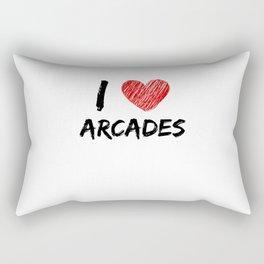 I Love Arcades Rectangular Pillow