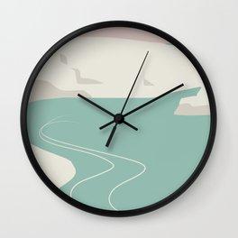 By the sea minimalist landscape Wall Clock