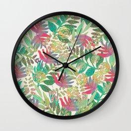 Jungle vector illustration Wall Clock