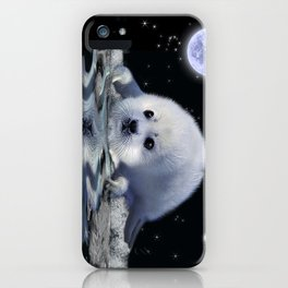 Destiny - Harp Seal Pup & Ice Floe iPhone Case