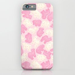 Frosted Animal Cookies on Pink iPhone Case