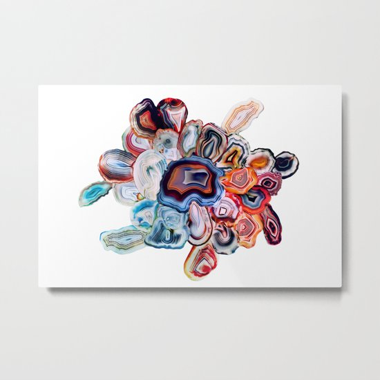 Earth's Loveliness, Agate Collection Metal Print