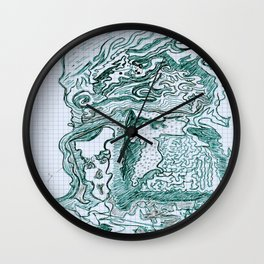Encre vert Wall Clock