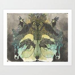 Birdbrain Art Print