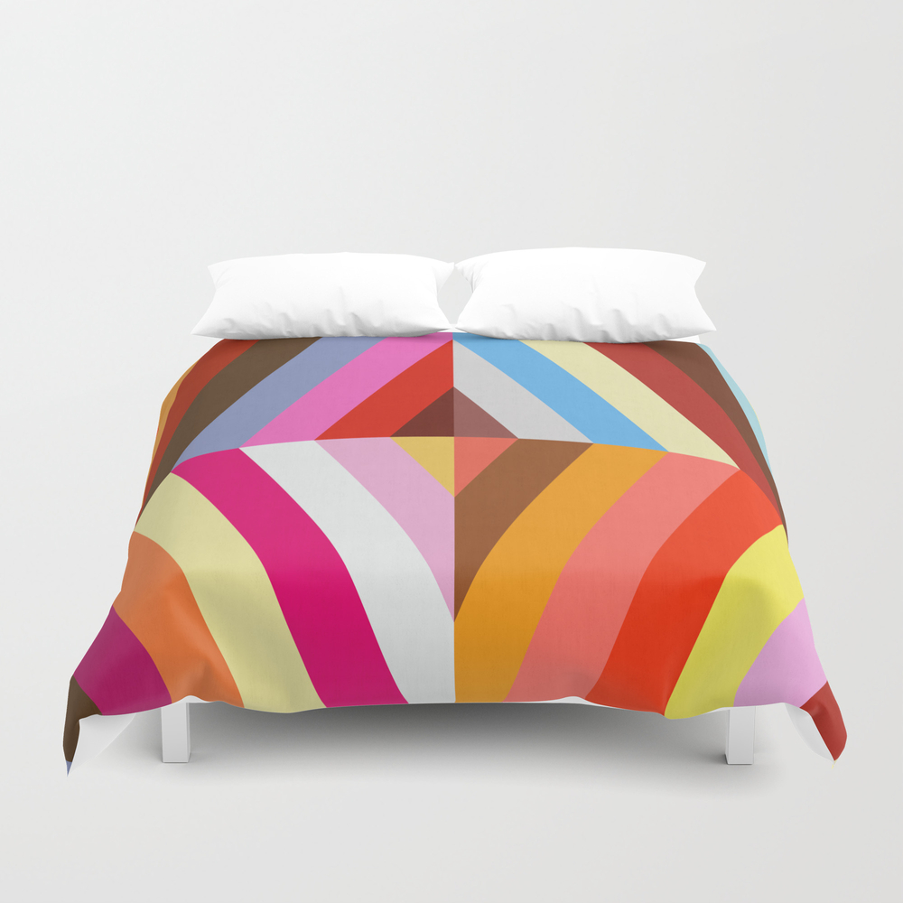 Vibrant And Colorful Pattern Vii Duvet Cover by Printedpattern DUV8473117