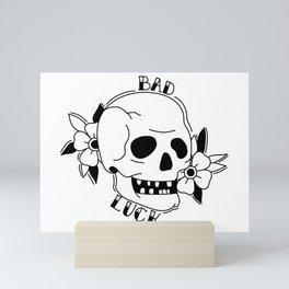 Old school Skull Tattoo Mini Art Print
