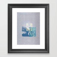 Portland Vase in Blue Framed Art Print