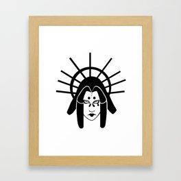 Kumo onna Framed Art Print