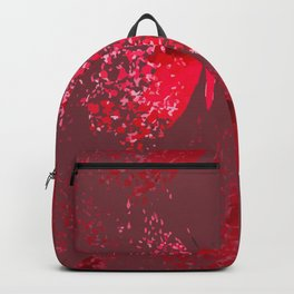 Vectorized red butterfly Backpack