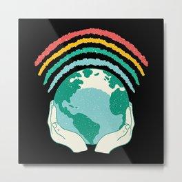Earth Rainbow Gay Metal Print