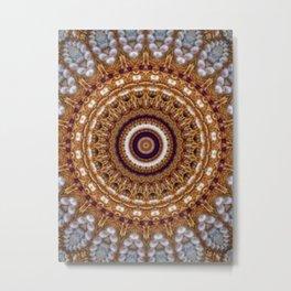 Mandala Pearls Art Metal Print