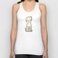 golden retriever Tank Tops featuring Golden retriever watercolor by Chloe Meister