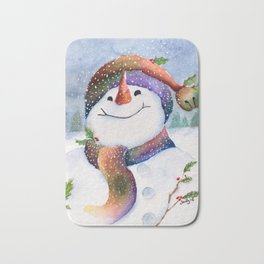 Winter Joy Snowman Bath Mat