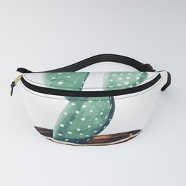 Potted Cactus Bronze Copper Fanny Pack