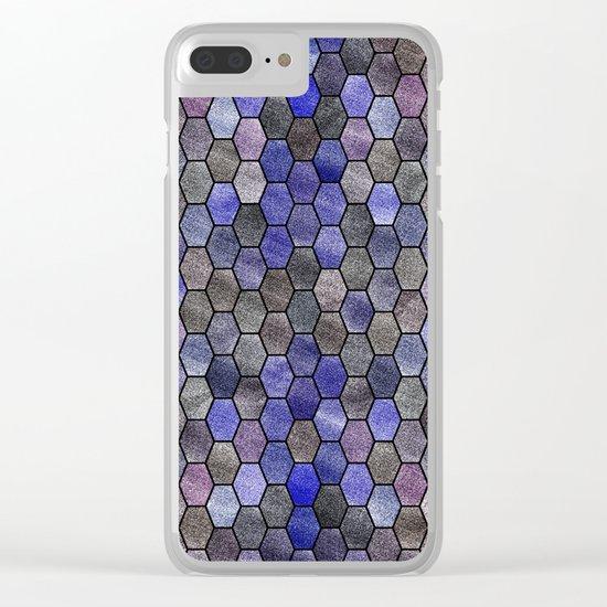 Glitter Tiles VII Clear iPhone Case