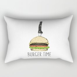 Burger Time sketch Rectangular Pillow