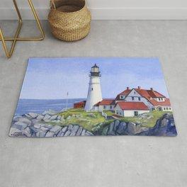 Portland Head Lighthouse Rug