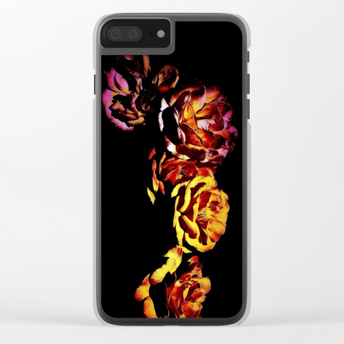 Dark Rose Tower, Broken Heart Clear iPhone Case