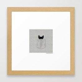 Pocket French Bulldog - Black Framed Art Print