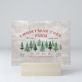 Christmas tree farm sign Mini Art Print
