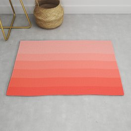 Living Coral Light to Bright Gradient Rug