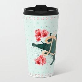 Death Before Deacf in Mint Tea Travel Mug