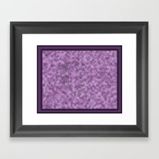 Woman and Lace Framed Art Print