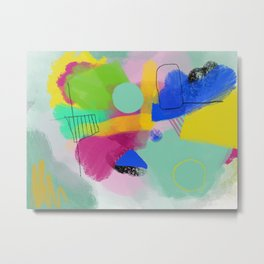 Sunrise - Abstract Colorful Painting Metal Print