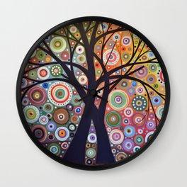 Abstract Art Landscape Original Painting ... Magic Garden Wall Clock