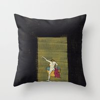 degas Throw Pillows featuring The Bath by Dawn Patel Art