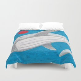 The Adventures of Red Ball - In the Ocean. Duvet Cover