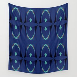 Arch Echoes on Blue Wall Tapestry