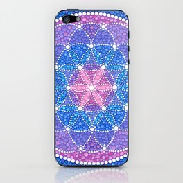 Starry Flower of Life iPhone Skin