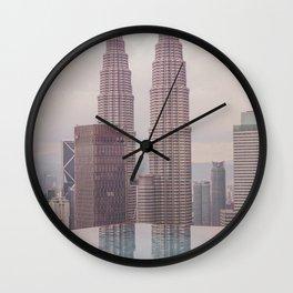 Petronas Twin Towers Kuala Lumpur Wall Clock