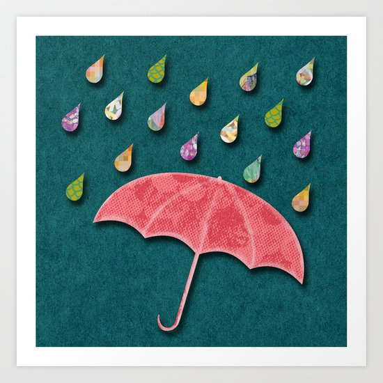 It's raining, it's pouring Art Print