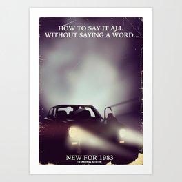 vintage 1980s car ad Art Print