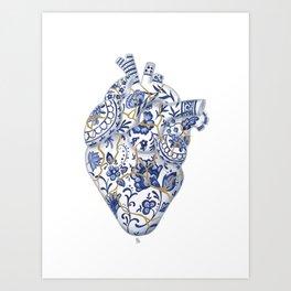 Broken heart - kintsugi Art Print
