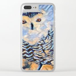""""""" Snowy Owl """" Clear iPhone Case"""