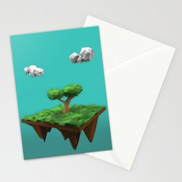 lowpoly summer Stationery Cards