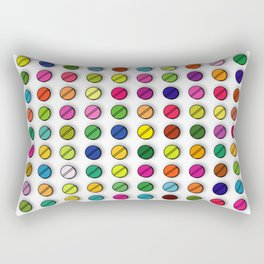Multi-coloured Pills Pattern square Rectangular Pillow