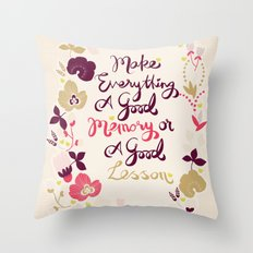 Make Everything Throw Pillow