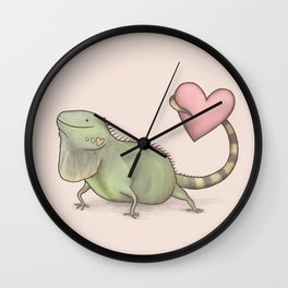 Iguana Love You Wall Clock