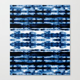 Indigo Stripe Wash Canvas Print