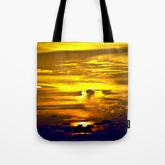 Fire sunset Tote Bag