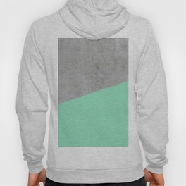 Concrete and Sea Color Hoody